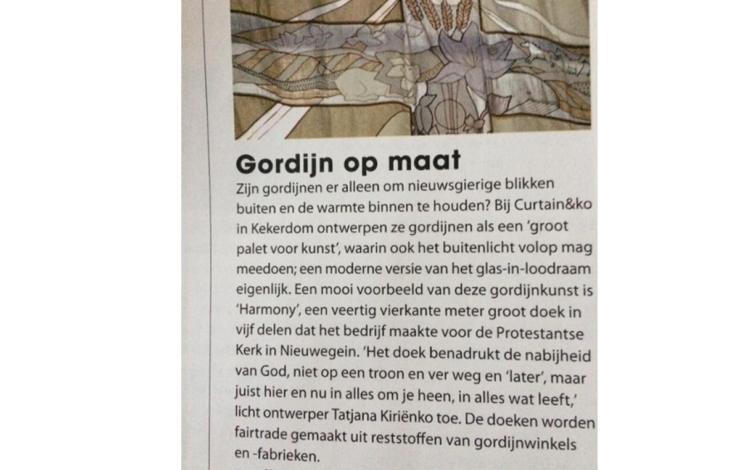 GordijnKunst in de Happinez juni 2017